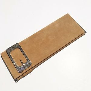 Gucci Suede Clutch Bag